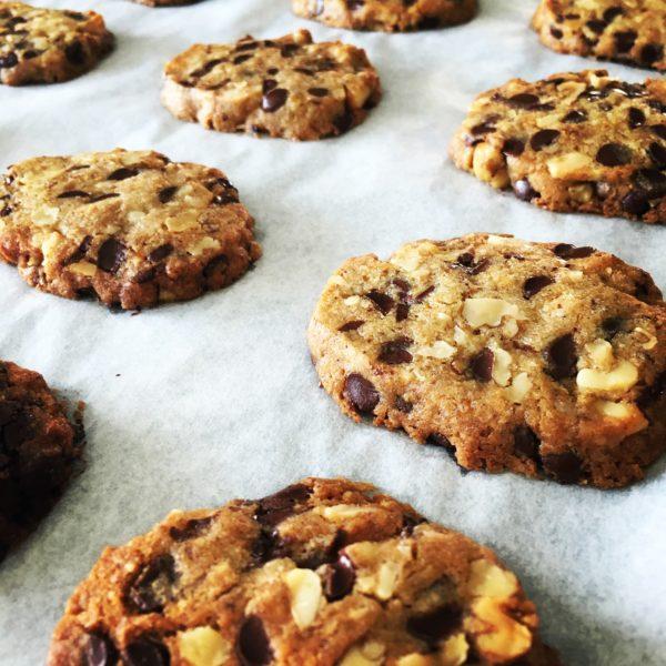 cookies chocolat noir et noix bio