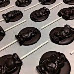Sucettes chocolat noir bio