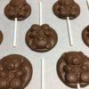 Sucettes chocolat au lait bio