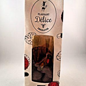 Mendiants chocolat au lait bio avec physalis, mangue séchée, cranberries, graines de courge et baies de goji