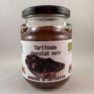 Tartinade noir amande noisette bio